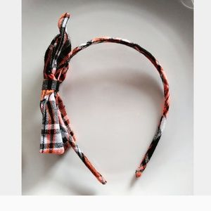 Other - Girls Orange and Blue Pattern Bow Head Band